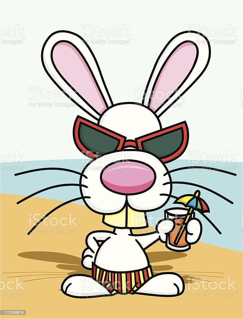 Beach Bunny royalty-free stock vector art