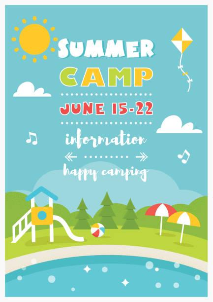 Summer Poster Vector Template Art Illustration