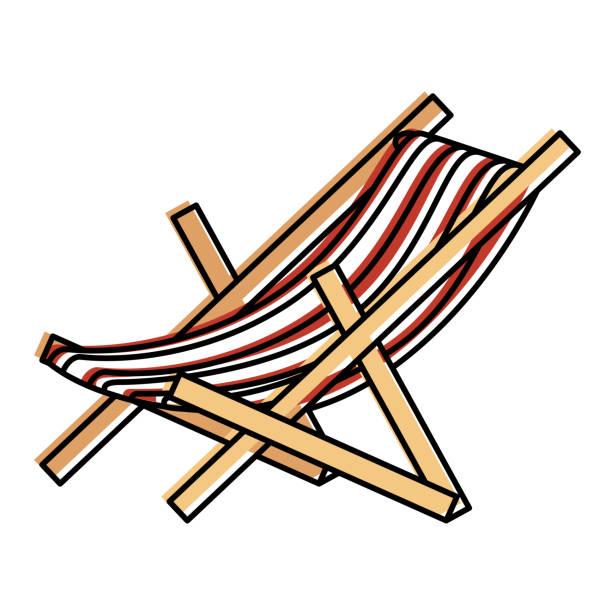strand stuhl isoliert-ikone - stuhllehnen stock-grafiken, -clipart, -cartoons und -symbole