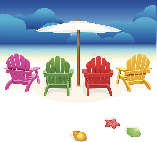 Royalty Free Beach Chairs Clip Art, Vector Images ...