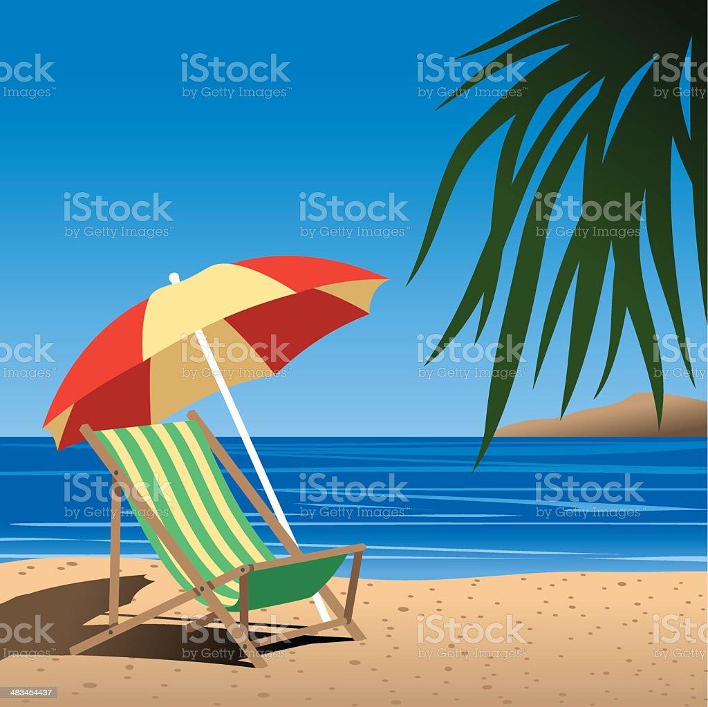 Beach Chair royalty-free stock vector art