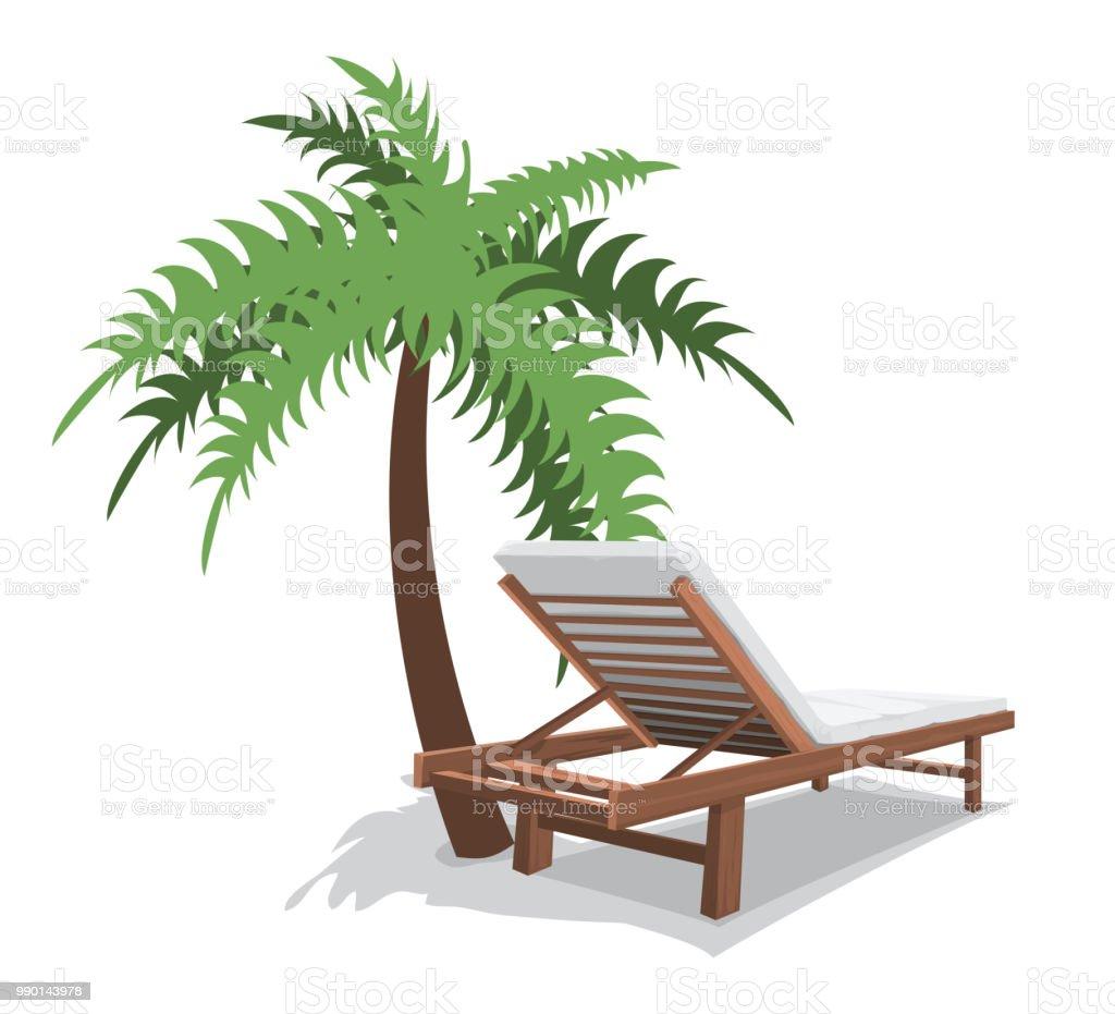 Strandkorb clipart  Strandkorb Mit Palm Stock Vektor Art und mehr Bilder von ClipArt ...