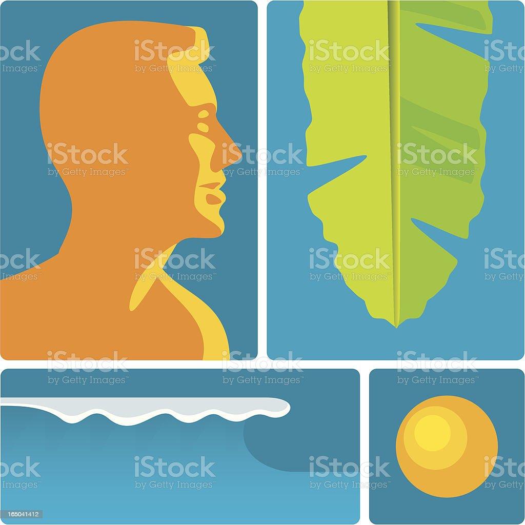beach culture royalty-free stock vector art