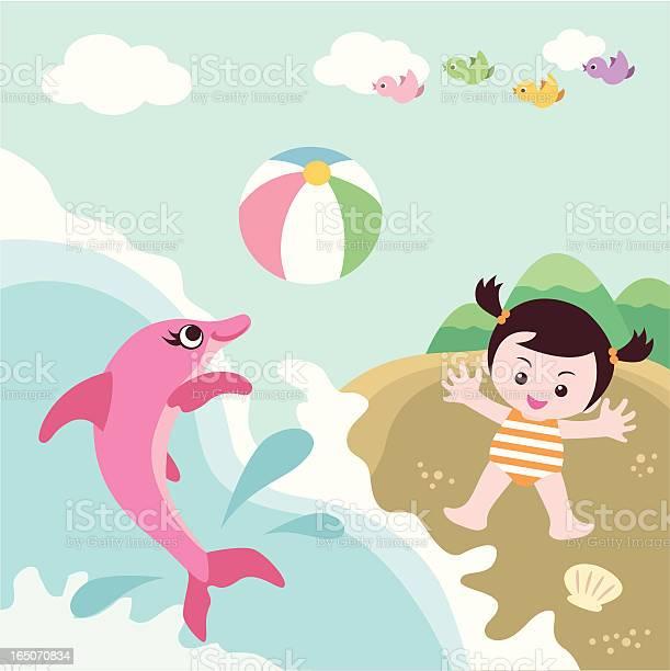 Beach cute girl with dolphin vector id165070834?b=1&k=6&m=165070834&s=612x612&h=ns63 o5aflsr4zuzs1isvoupgbtacexvyyvphkqbkbs=