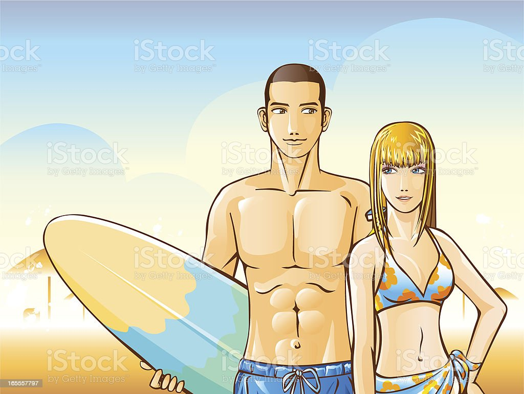 Beach Dating royalty-free stock vector art