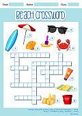 Beach element crossword template