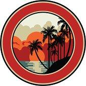 tropical vintage emblem