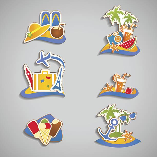 plaża symbolizujące - ice cream stock illustrations