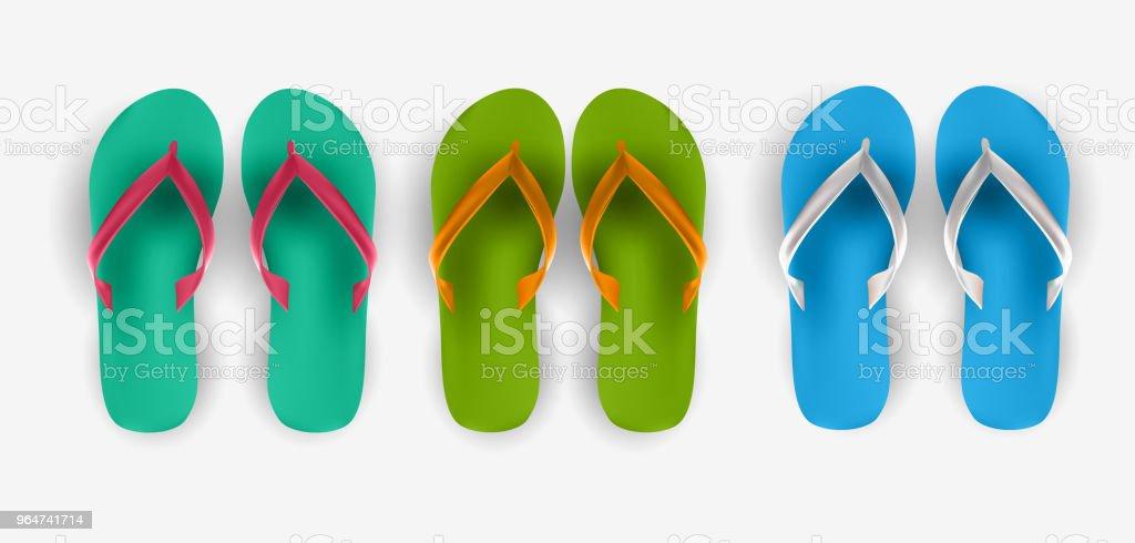 Beach Flip Flop Collection Set Vector Illustration royalty-free beach flip flop collection set vector illustration stock vector art & more images of beach