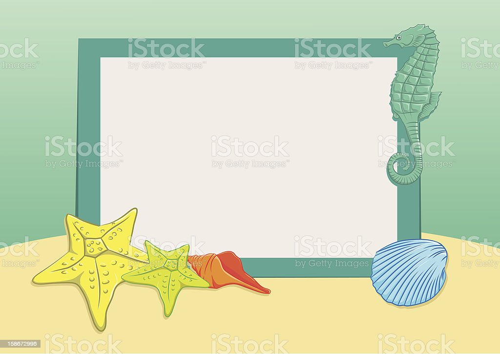 Beach Frame vector art illustration