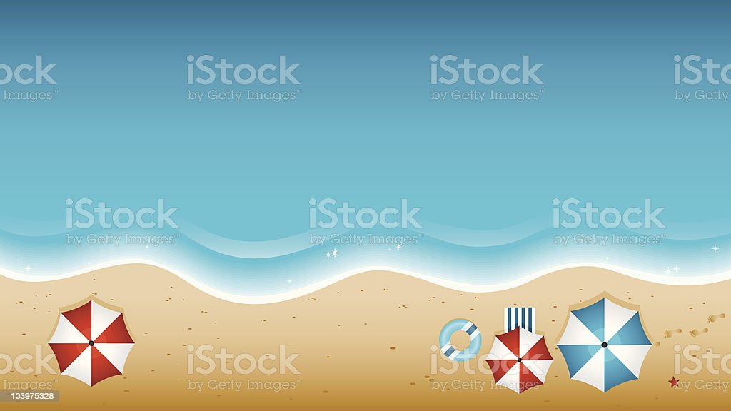 Beach From Above vector art illustration