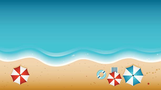 Beach From Above vector art illustration
