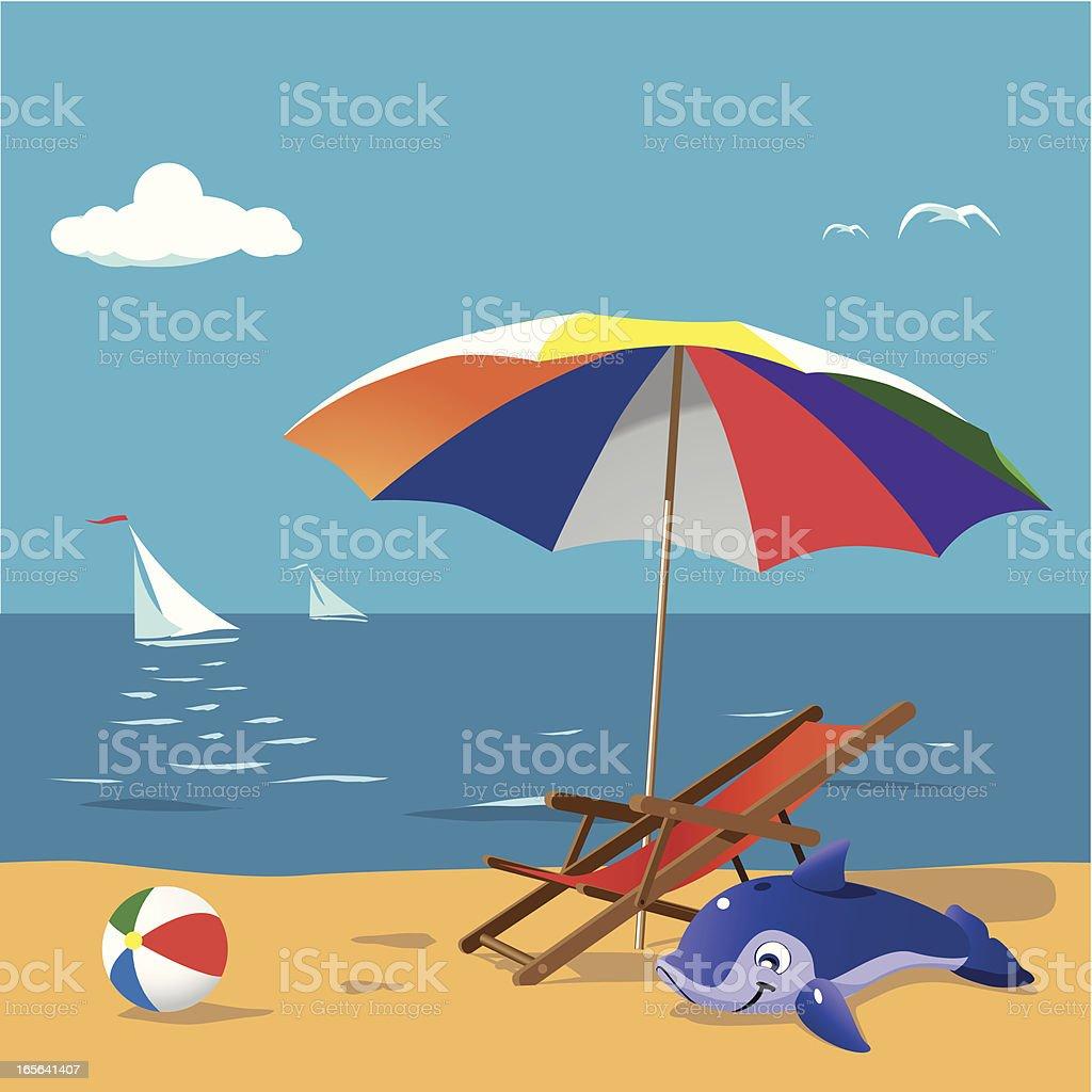 Beach Fun royalty-free stock vector art