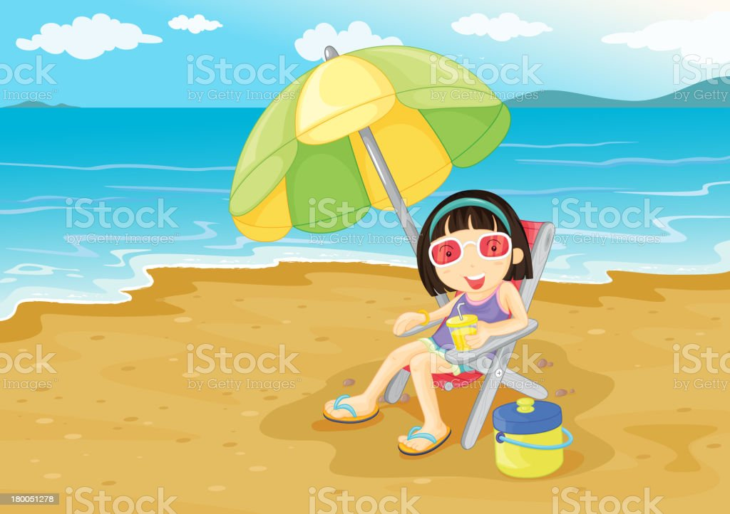 Beach girl royalty-free beach girl stock vector art & more images of beach
