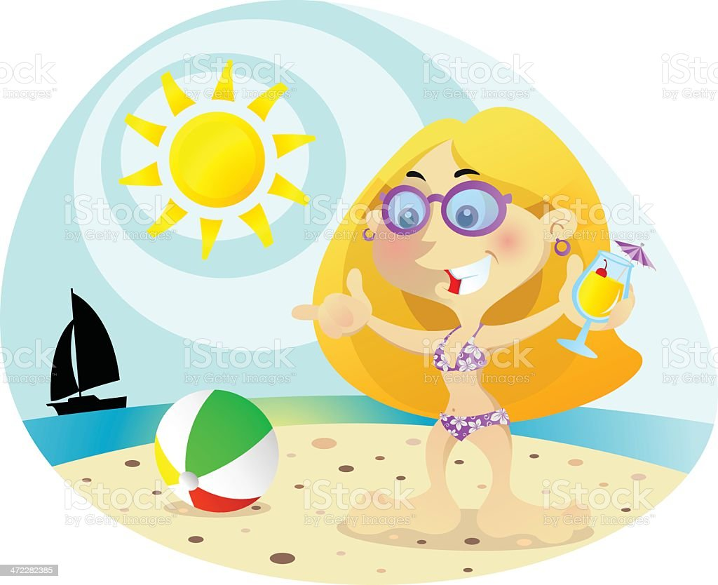beach girl royalty-free beach girl stock vector art & more images of adult