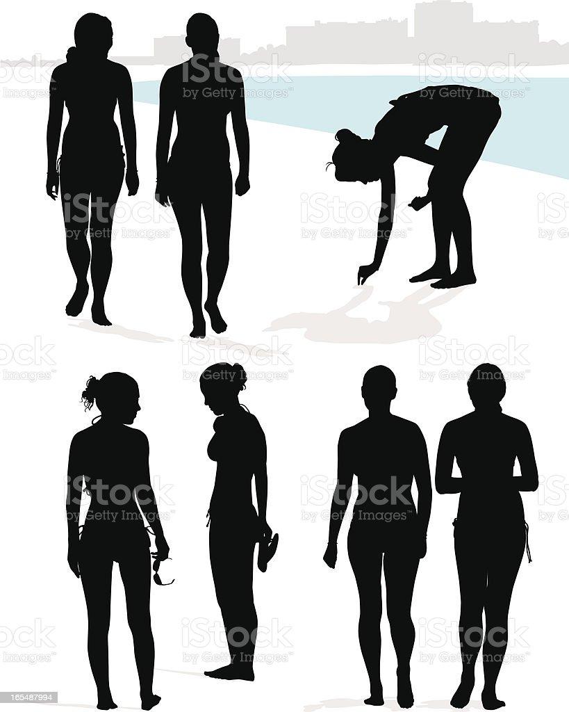 Beach Girls royalty-free stock vector art
