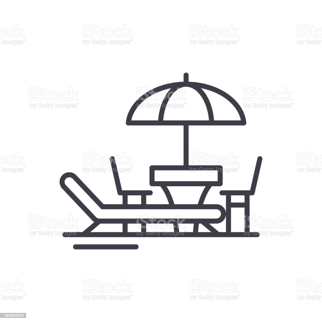Beach holidays black icon concept. Beach holidays flat  vector symbol, sign, illustration. royalty-free beach holidays black icon concept beach holidays flat vector symbol sign illustration stock vector art & more images of airplane