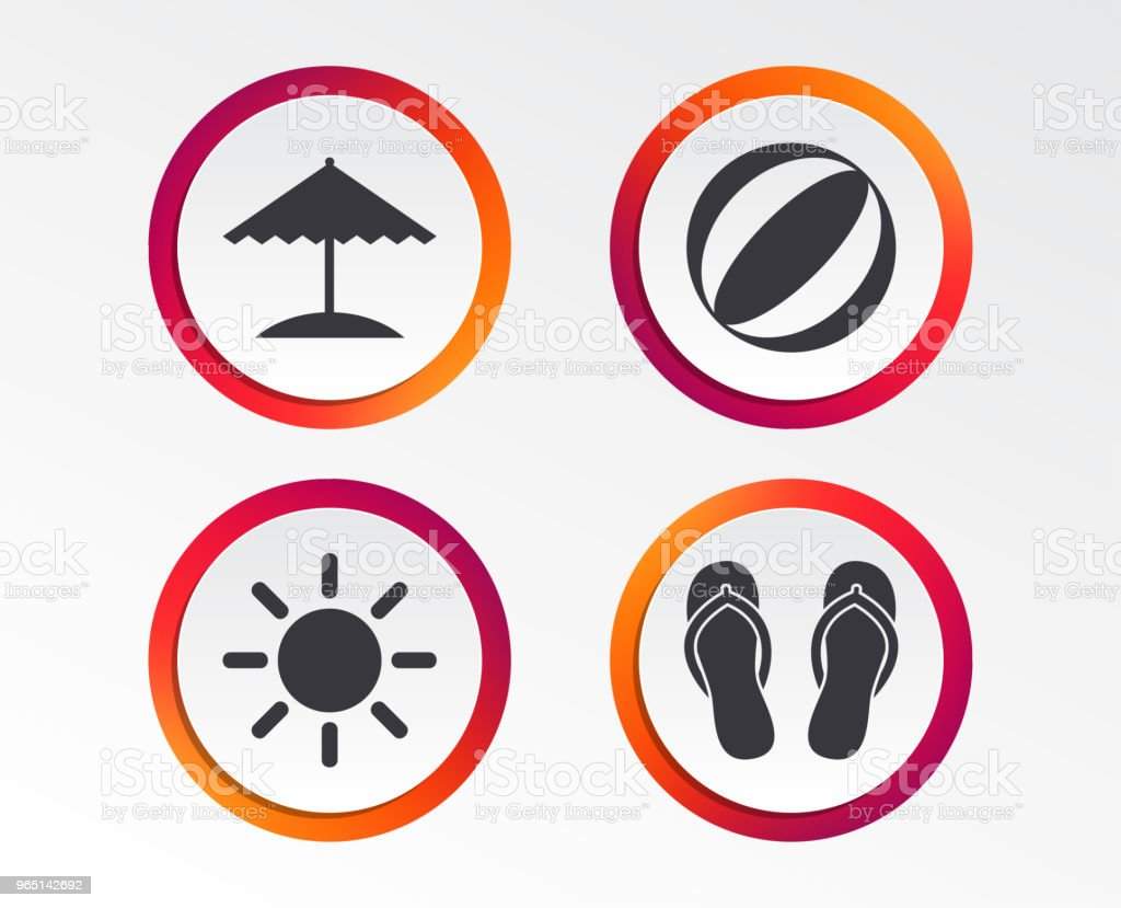 Beach holidays icons. Umbrella and sandals. beach holidays icons umbrella and sandals - stockowe grafiki wektorowe i więcej obrazów aplikacja mobilna royalty-free