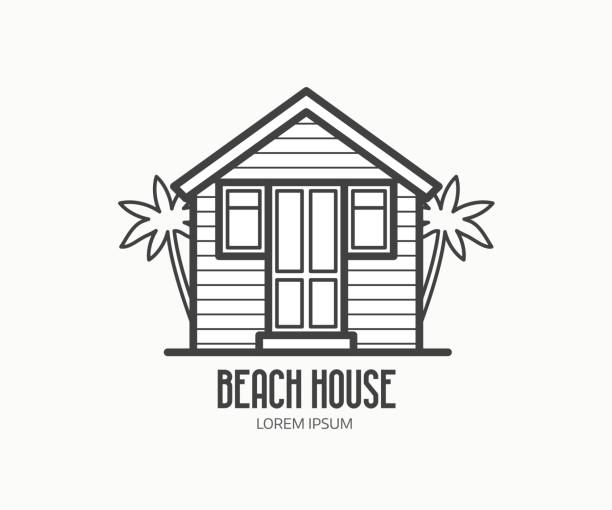Royalty Free Beach Shack Clip Art, Vector Images