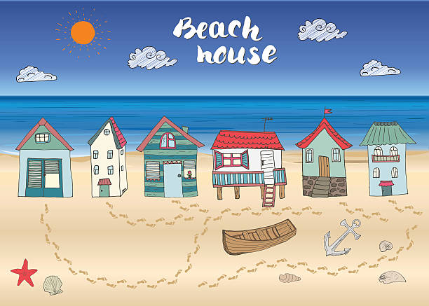 Royalty Free Beach Cottage Clip Art Vector Images Illustrations