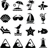 Beach Icons - Black Series