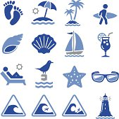 Beach, waves and summer fun. Professional icons for your print project or Web site. See more in this series.