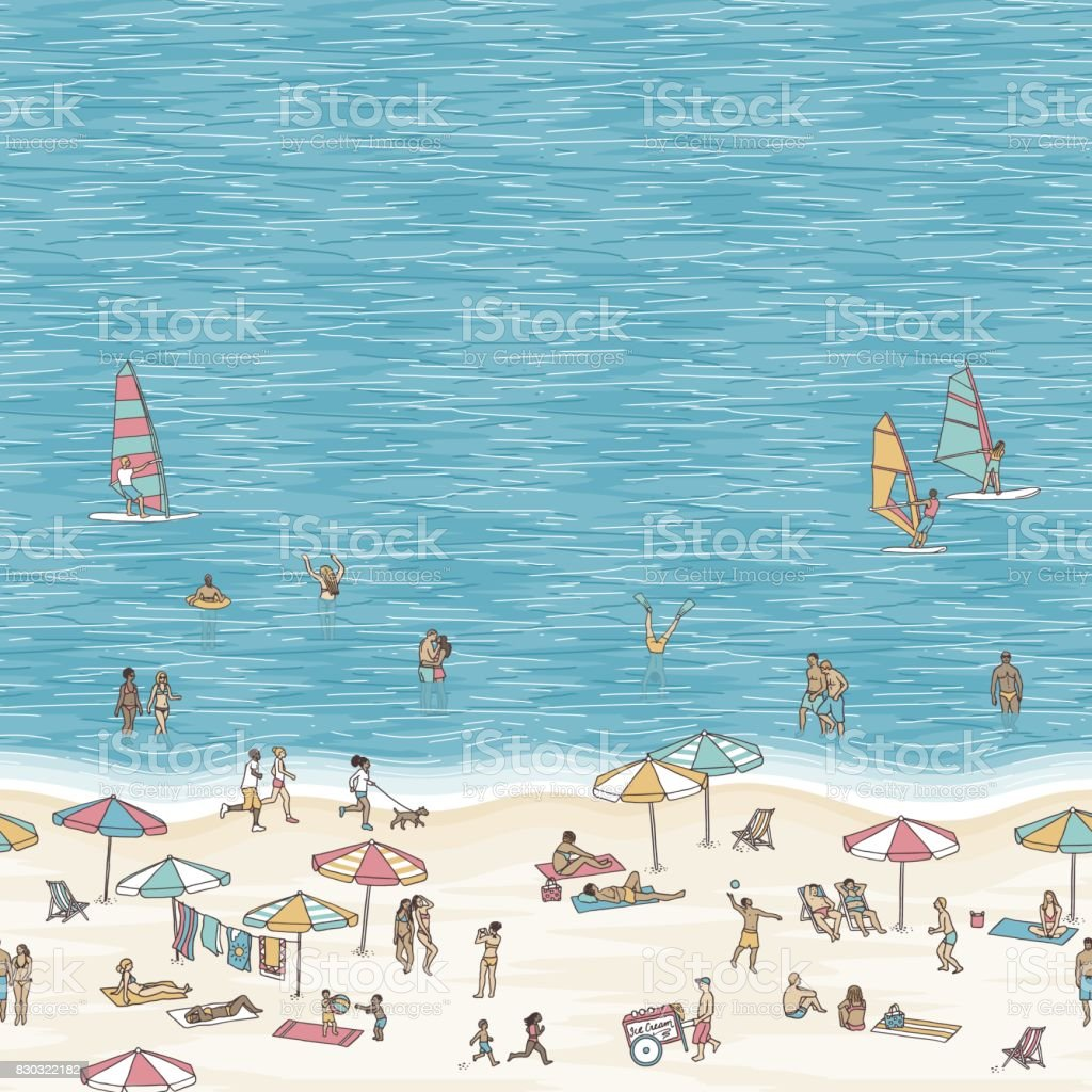 Beach illustration with space for text royalty-free beach illustration with space for text stock vector art & more images of activity