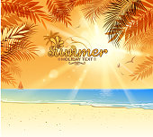 design of vector blank beach scenic.This file was recorded with adobe illustrator cs4 transparent.EPS10 format.