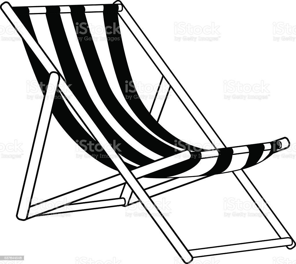 beach lounger vector art illustration
