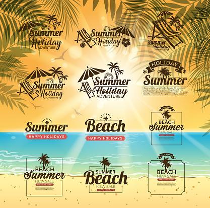 beach message set