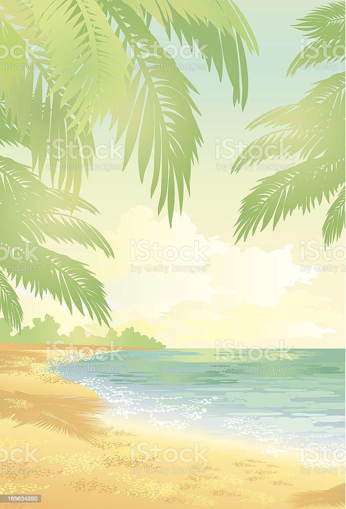 Beach of Haiti royalty-free stock vector art