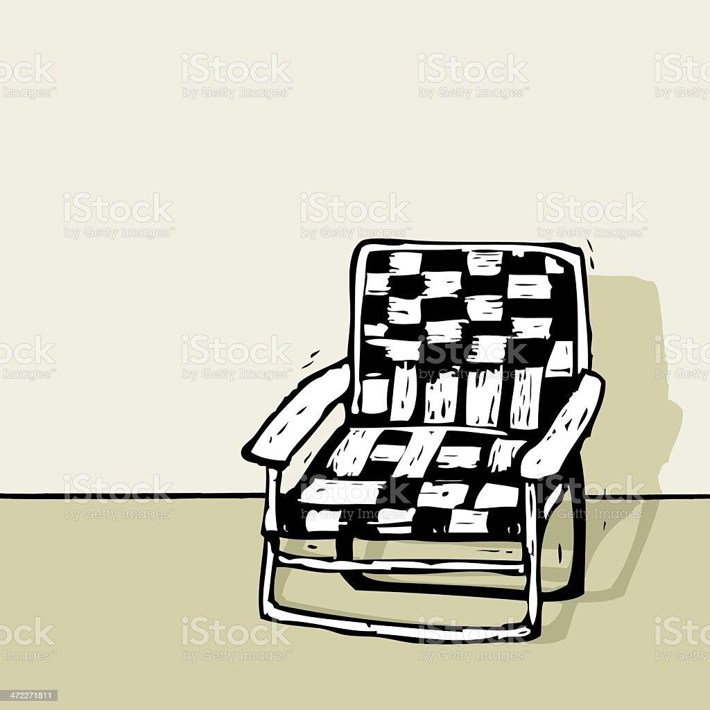 Beach or Lawn Chair royalty-free stock vector art