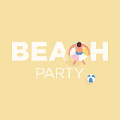 This illustration of a man holding an inflatable ring on the beach would make an ideal design element for your summer party. The illustrator 10 vector file can be coloured and customized to suit your needs and scaled infinitely without any loss of quality. Please also take a look at other illustrations in this range.