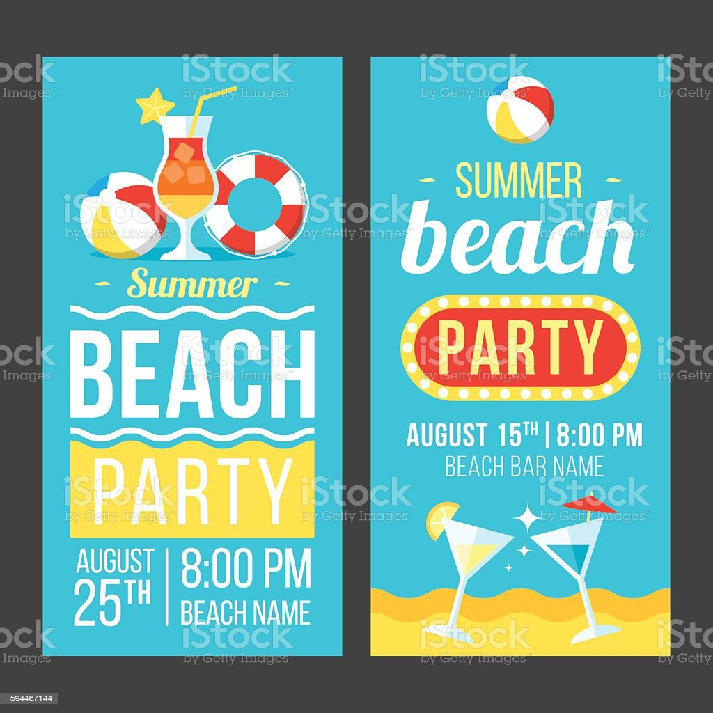 beach party flyer お祝いのベクターアート素材や画像を多数ご用意