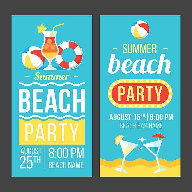 Beach party flyer ベクターアートイラスト
