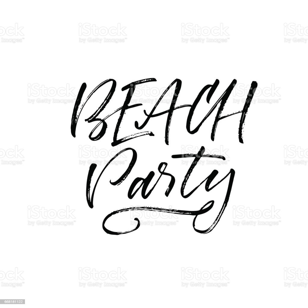 beach party postcard stock vector art more images of abstract rh istockphoto com beach birthday party clip art beach party invitation clip art