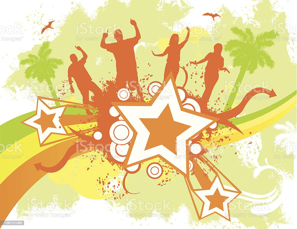 Beach  Party royalty-free stock vector art