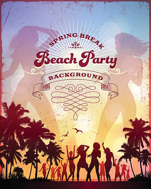 ilustrações, clipart, desenhos animados e ícones de na praia party - viagem de primeira classe