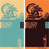 Beach Party. Beach Party Vector Flyer.