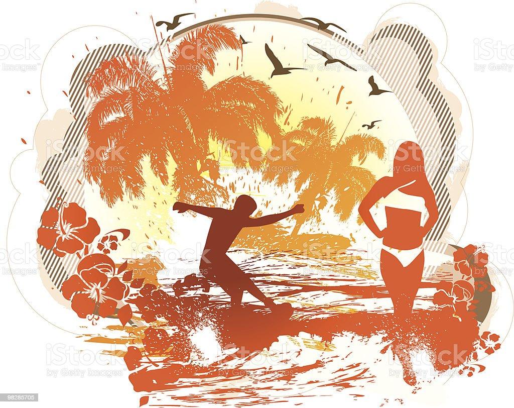 Posto spiaggia posto spiaggia - immagini vettoriali stock e altre immagini di adolescente royalty-free