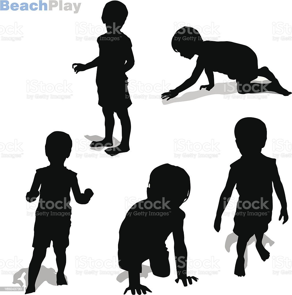 Beach Play royalty-free stock vector art