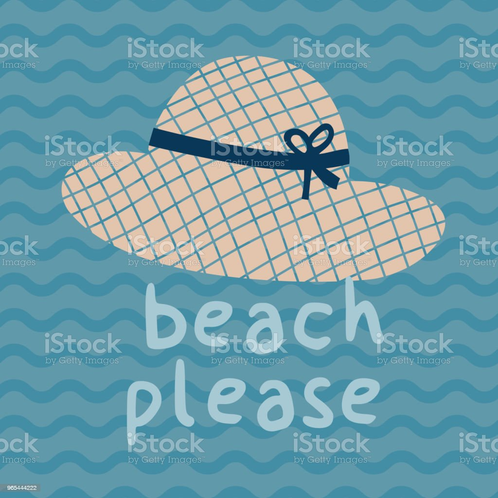 Beach please summer hat print poster beach please summer hat print poster - stockowe grafiki wektorowe i więcej obrazów bazgroły - rysunek royalty-free