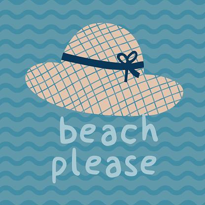 비치 하십시오 여름 모자 인쇄 포스터 0명에 대한 스톡 벡터 아트 및 기타 이미지