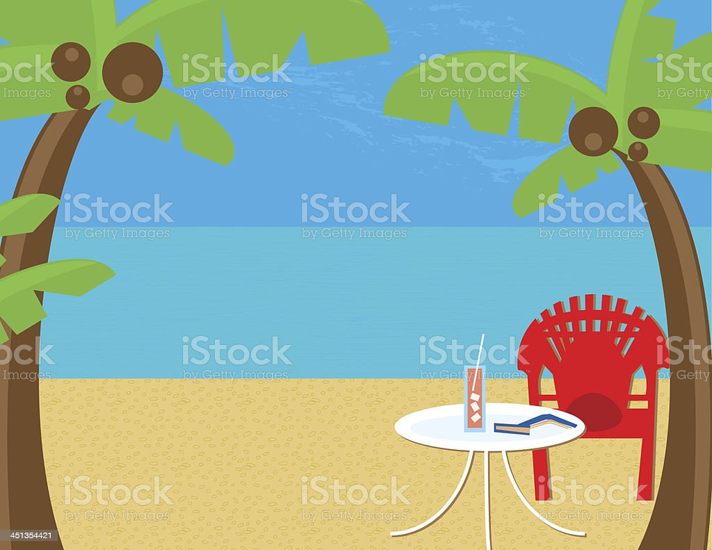 Beach Relaxation royalty-free stock vector art
