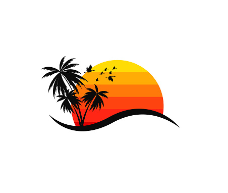 Beach resort and summer theme vector design