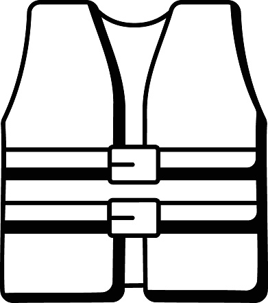 Beach Safety Vest Vector Icon Design, Summer Spring activities Symbol, Hot Weather Doodle art Hand Drawn Sign, Warmest Season Elements Stock illustration, Life Jackets Concept