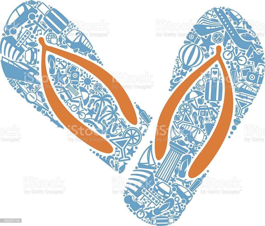 Beach Sandals royalty-free stock vector art