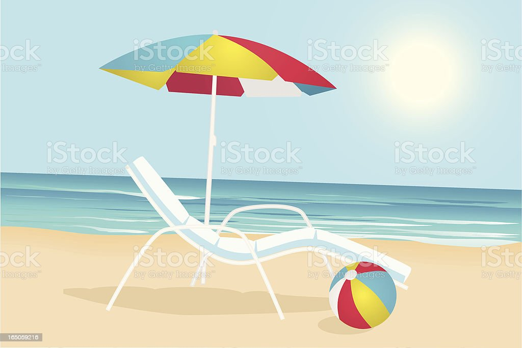 Beach scene royalty-free beach scene stock vector art & more images of ball