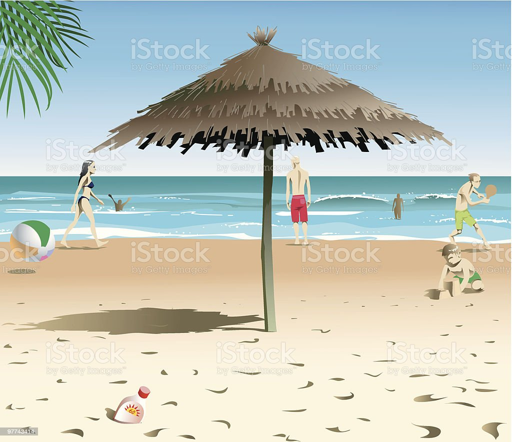 Beach Scene royalty-free stock vector art