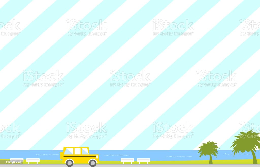 beach scenery background with palm trees vector,summer,sea